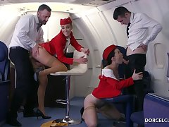 Alexis Crystal together with Misha Disappointing are VIP stewardesses who were hired to do completeness to please dudes