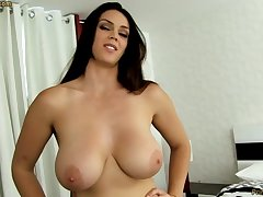 Sensual dark-haired roughly fat funbags, Alison Tyler luvs to deep-throat meatpipe and taste some new jizm