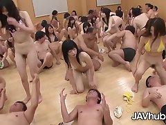 Sweet Japanese damsels are about to have a grup orgy class, as part of their education