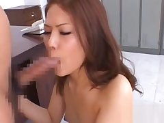 Enchanting oriental hottie needs sperm on her face plus tits